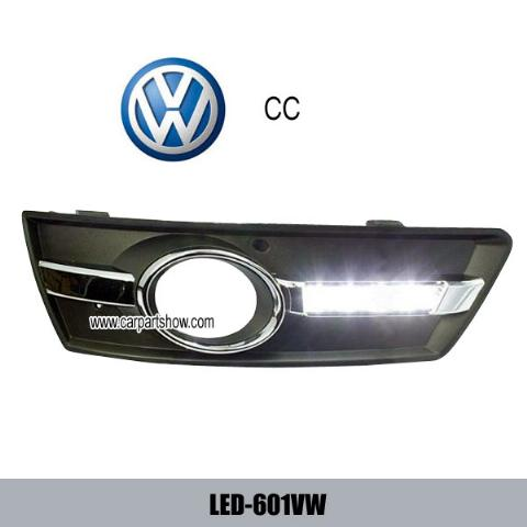 Volkswagen VW CC DRL LED Daytime Running Lights Car headlight parts Fog lamp cover LED-601VW