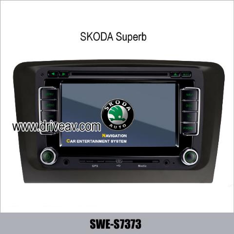 Skoda Superb OEM stereo radio auto dvd player gps navigation TV IPOD SWE-S7373