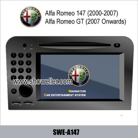 Alfa Romeo 147 Romeo GT stereo radio car DVD player GPS TV SWE-A147