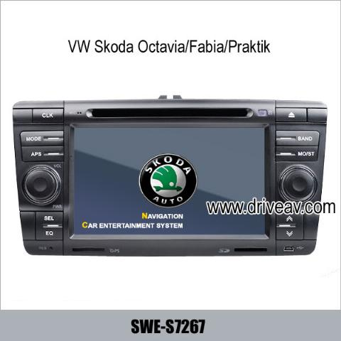 VW Skoda Octavia Fabia Praktik stereo radio Car DVD Player GPS IPOD TV SWE-S7267